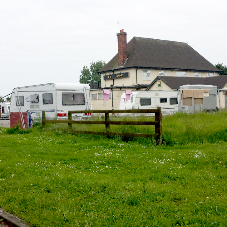 evicting travellers from private land